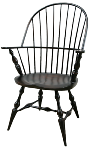 Details About NEW US Custom Made Colonial Style Sack Back Chair Windsor  Armchair Black Dining