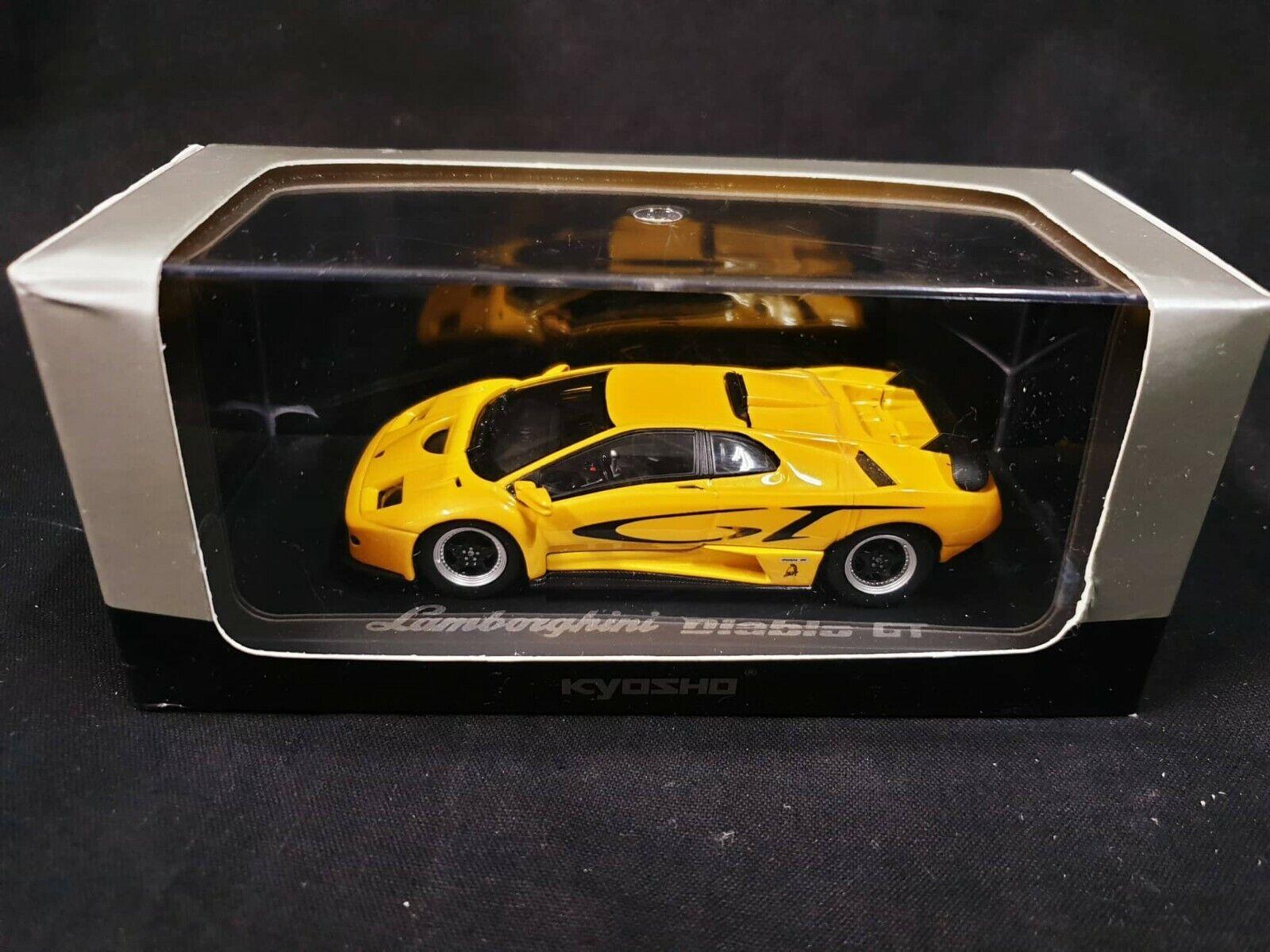LAMBORGHINI DIABLO GT YELLOW  KYOSHO 03215C 1 43..