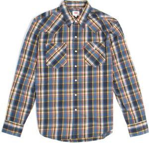 Herren-Hemd-LEVIS-LEVI-S-Barstow-Western-65816-0203-Dress-Bluezone-Wash-gr-M