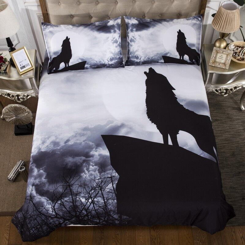 Wolf Qulit Cover Duvet Cover Set Queen King Size Bedding Set Pillow Cases Animal