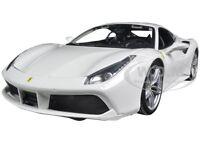 Ferrari 488 Gtb White 1:18 Diecast Model Car By Bburago 16008