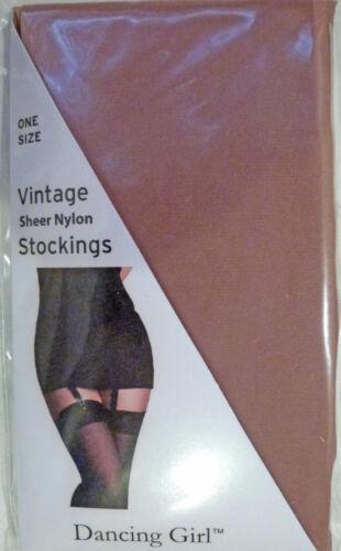 Dancing Girl Taglia Unica Stile Vintage Sheer Calze in Nylon con lycra