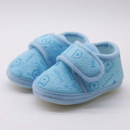Newborn Toddler Baby Girl Boys Solid Soft Sole Prewalker Warm Cotton Shoes XI