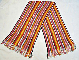 8599d1b83d33db Image is loading GERMANY-VINTAGE-AUTHENTIC-CODELLO-STRIPED-ZIG-ZAG-PINK-