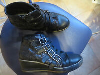 Halbschuhe Schuhe Disney Violetta Mädchen Mid Cut schwarz Gr. 37 Boots