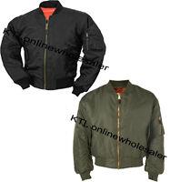 Mens MA1 Flight Pilot Bomber Biker Jacket Security Army Military m,l,xl,xxl