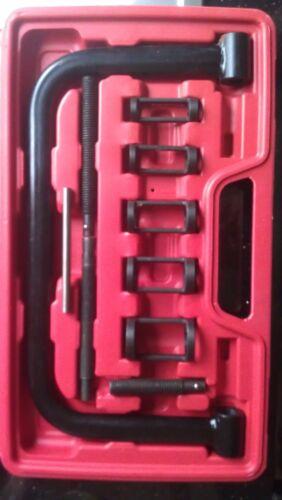 Professional Quality Plastic Case Valve Spring Compressor Set All Metal