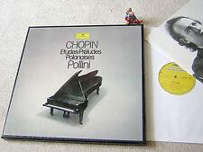 Chopin Etudes Preludes Polonaises Maurizio Pollini 1980 GER 3lp BOX DGG 2740 230