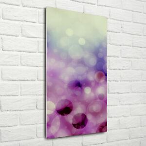 Wand-Bild-Kunstdruck-aus-Acryl-Glas-Hochformat-70x140-Violette-Rader