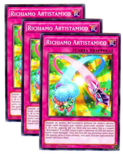 RICHIAMO ARTISTAMICO in Italiano SECE-IT067 Comune YUGIOH Set 3 Carte