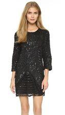 parker black petra silk dress SIZE 4 EUC  $484