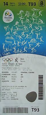 The Cheapest Price Ticket A 14/8/2016 Olympic Games Tennis Finale Men's Gold Andy Murray Gb # T93 Olympic Memorabilia