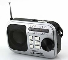 Anncia New Portable FM/AM/SW radio Speaker with Micro TF card and USB fla...
