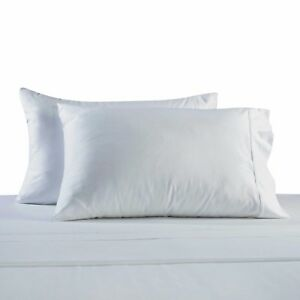 330-Thread-Count-100-Cotton-Sateen-King-Pillowcases-In-White-Set-Of-2