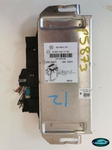 MERCEDES S CLASS W220 FUSE BOX MODULE A0315451732