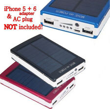 30000mAh Dual USB Portable Solar Battery Charger Power Bank For Cell Phone USA