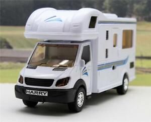PERSONALISED-PLATE-Boys-Girls-White-Toy-Model-Motorhome-Campervan-Present-Boxed