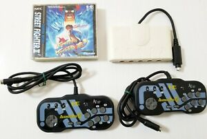 PC Engine Avenue Pad 6 Button Controller x2 + Multi Tap & Street Fighter 2 Japan