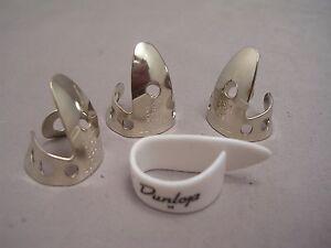 "Dunlop 4 Piece LEFT HAND Finger Pick Set, .018"", Includes Medium LH Thumbpick"