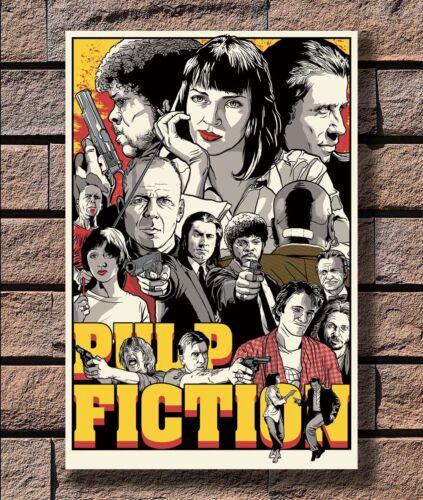 KX140 Hot Classic Movie Film Kill Bill Pulp Fiction Print 24x36 40in Silk Poster
