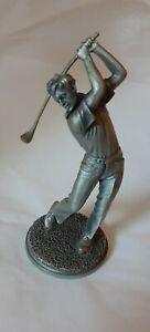Vintage 1976 A. Petitto Lance Fine Pewter Golfer Figurine