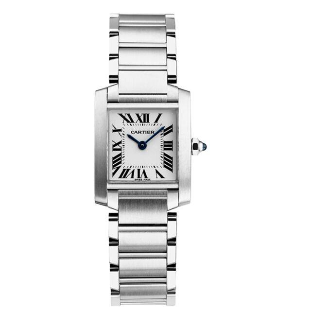CARTIER TANK FRANCAISE Ladies Steel Quartz Small Model Watch W51008Q3