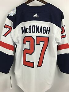 ee6a1c57 Details about Kids RYAN McDONAGH Tampa Bay Lightning USA World Cup Hockey  Youth Jersey - L/XL