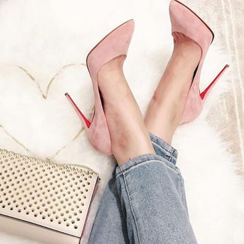 Christian Louboutin Pigalle Follies 100 Suede Pumps shoes Size 39