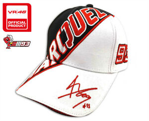 12688cb15d94f NEW OFFICIAL MOTOGP WORLD CHAMPION MARC MARQUEZ  93 WHITE RIDER HAT ...
