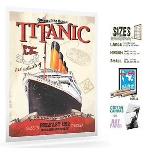 TITANIC BELFAST LAUNCH 028 VINTAGE TRAVEL POSTER GALLERY WRAP