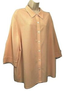 C. J. Banks Women's Blouse Plus 2X or 3X ? 3/4 Sleeve Button Down Shirt