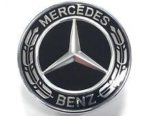 Mercedes Benz Hood Bonnet Badge Flat bonnet Badge Star Black Wreath