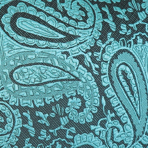 Tela de latón DQT Incrustación Gemelos Floral Cachemira Verde Azulado Para Hombres Cufflinks