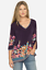 JOHNNY-WAS-Cupra-ARAXI-Embroidered-TUNIC-V-Neck-BLOUSE-Top-M-Teal-Blue-258 thumbnail 8