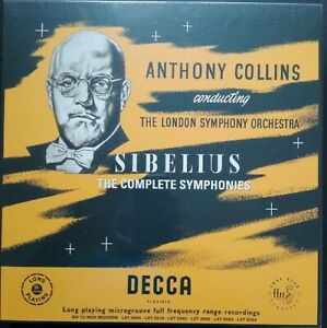 Sibelius - Symphonies, COLLINS, LSO, 6 LP Box, Decca LXT MONO, 180g, NEW SEALED