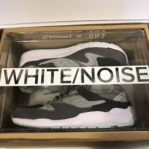 659d29aad9ba END x Saucony Grid 9000 White Noise Sz 10.5 W  Special Box Clear ...