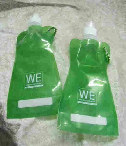 """vert 40 x potable-faltflaschen /""""Basic/"""" avec publicité"""