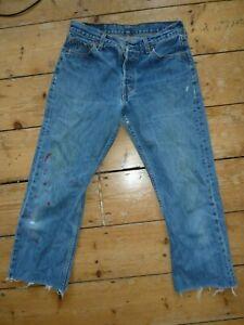 Levi-039-s-Jean-501-Jeans-Hommes-Bleu-Jean-Compatible-Avec-Rouge-Tab-W30-L24-360