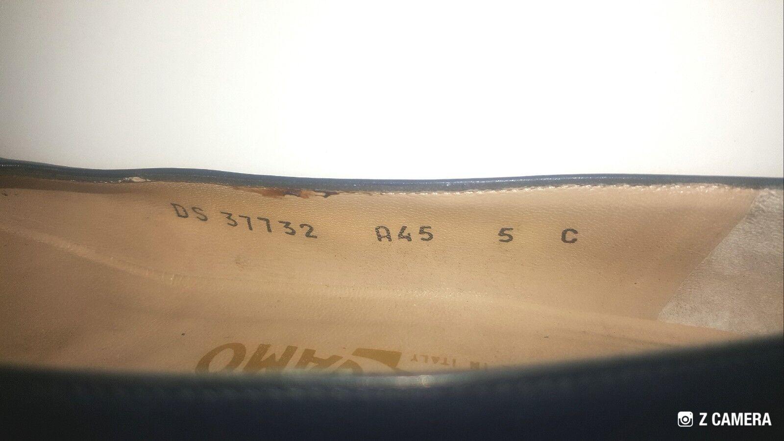 Salvatore Ferragamo Vintage Navy Größe Blau w/ Gold Bow Größe Navy 5 6589d1