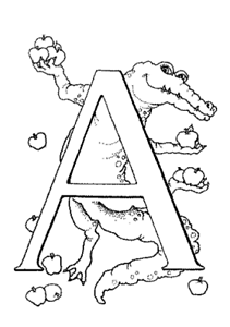 malvorlagen abc tiere | coloring and malvorlagan