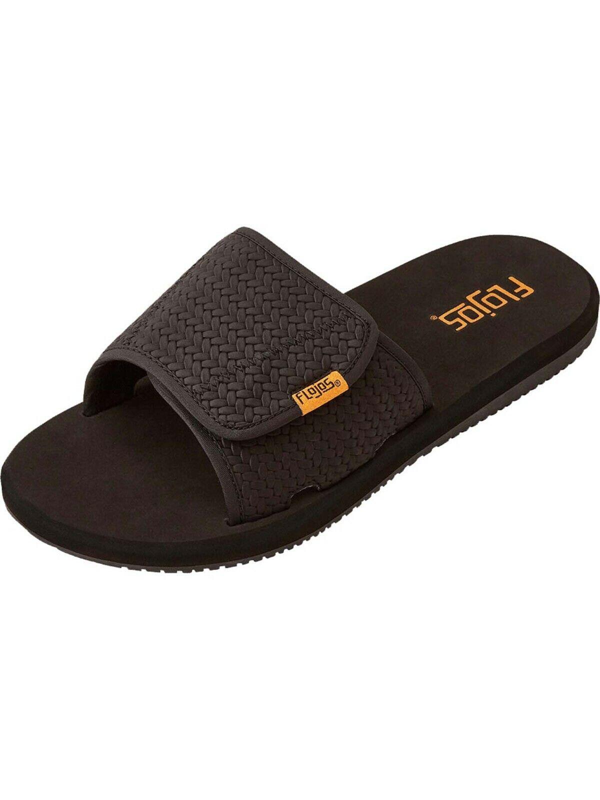 Flojos Men's Duke Hook and Loop Fastener Slide in Sandals