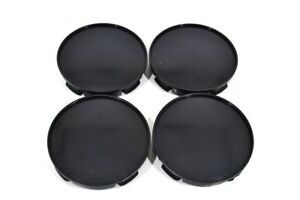 Wheel-center-hub-caps-set-4-pcs-58mm-black-plain-fit-Renault-Peugeot-Vw-K06b