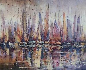 Tableau-peinture-034-Avant-la-regate-034-acrylique-sur-toile