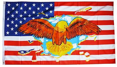 Flagge Fahne USA Adler 90x150 cm Ösen Sturmflagge Western Amerika Deko
