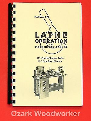 """Cnc, Metalworking & Manufacturing Atlas Craftsman Manual Of Lathe Operation Book For 12"""" Crossfeed Lever 0035"""