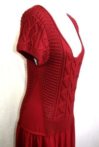 Escl Vestito T Maglia Donna Stato 42 Mr Short Fluido Rosso Crea Concept 48TWq4v
