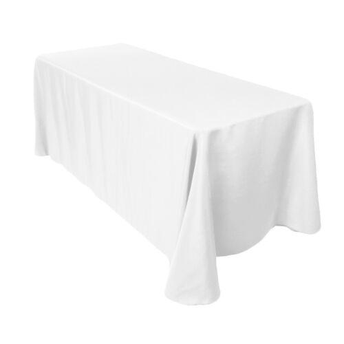 White Tablecloth Table Cover Cloth Rectangular Wedding Decor party cloths