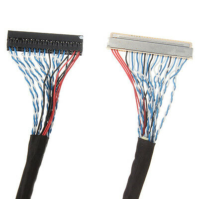 FIX-30Pin 2ch 8bit LVDS Cable for 17inch~26inch LCD Panel 8 Bits 25cm//250mm