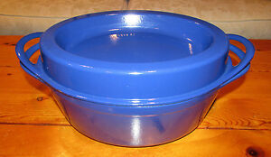 LE CREUSET DOUFEU #35 OVAL CAST IRON ENAMEL BLUE CASSEROLE DUTCH ...