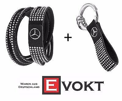 Keyring Genuine New Mercedes Women Set Monte Carlo Swarovski Crystals Bracelet